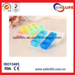 New Weekly Colourful Plastic Holder 21 Compartments Medicine Pill Box pictures & photos