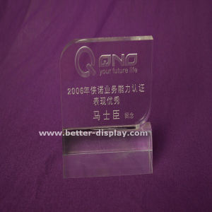 Square Acrylic Logo Block/Acrylic Nameplate/Clear Acrylic Sign Block (BTR-I8009) pictures & photos