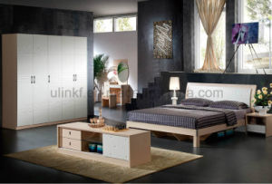 Antique Double Wooden Bed for Bed Room Furniture (UL-LF001) pictures & photos