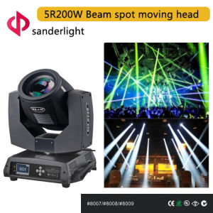 200W 5r Beam Spot Moving Head Light for Stage Event, Living Show and Bar Decoration