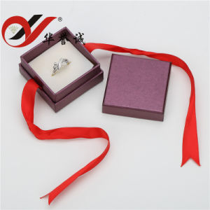 Purple Cardboard Paper Double Ring Box pictures & photos