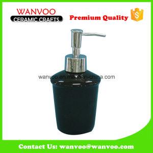 Classic Black Ceramic Soap Lotion Dispenser for Bathroom Countertop pictures & photos