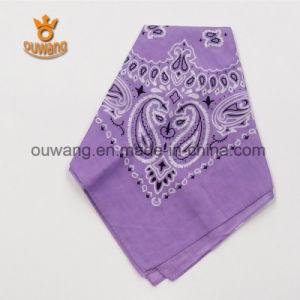 Wholesale Cheap Square Printing Paisley Unique Bike Bandanas 100% Cotton pictures & photos