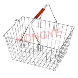 Supermarket Wire Metal Shopping Basket (OW-BW002) pictures & photos