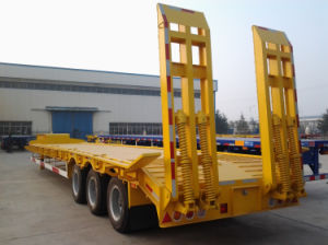 High Quality 3 Axles 80 Tons Low-Bed Semi Trailer for Sale pictures & photos