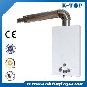 (8L, 10L, 12L) White Panel Balanced Type Gas Water Heater with LCD pictures & photos