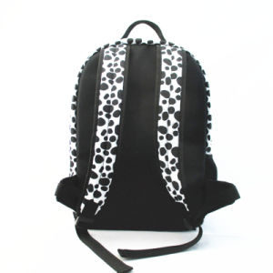 Leisure Dalmation Print Polyester Backpack pictures & photos