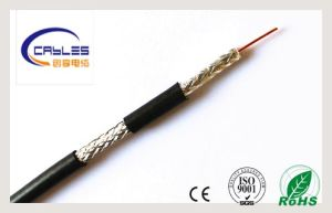 75 Ohm TV RG6 RG60 CATV CCTV Copper/CCA Coaxial Cable pictures & photos