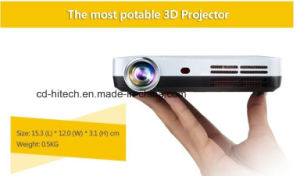 1080P Mini Portable DLP 3D Projector with Surround Speaker