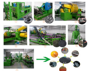Ce Approved Waste Tire Recycling Machine pictures & photos
