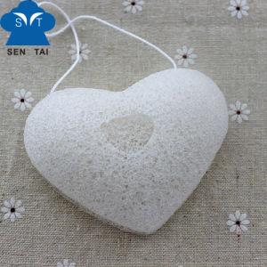 Natural Facial Cleaning Konjac Sponge (heart shape) pictures & photos