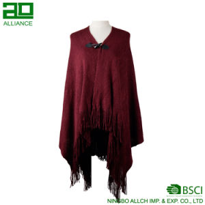 Elegant Women Winter Shawls with Adjustable Buckle pictures & photos