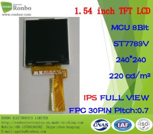 "1.54"" IPS 240*240 MCU 8bit 30pin 220CD/M2 Full View TFT LCD Panel pictures & photos"