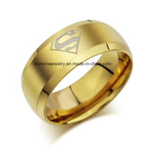 Shineme Jewelry Double Row Stones Stainless Steel Gold Plated Ring (CZR2571) pictures & photos