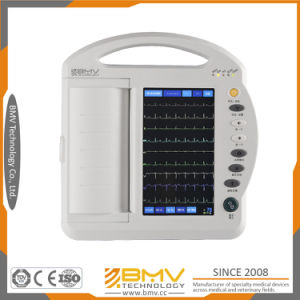 12 Inches Touch Screen Electrocardiograph Portable ECG Machine (BES-1210AT) pictures & photos