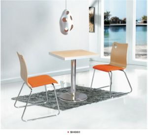 Sh005 Restaurant Furniture with Cast Iron Base Metal Dining Chair pictures & photos