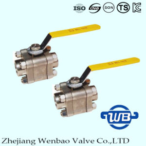"3PC High Pressure Forged Steel F316 Ball Valve 1"" pictures & photos"