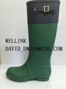 Fashion Style Colourful Rubber Rainboots Females