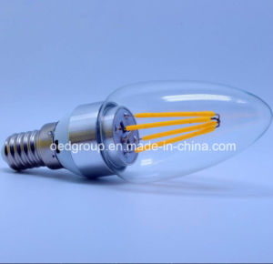 4W LED Tip Bubble Tungsten Filament Lamp, Candle Bulbs pictures & photos