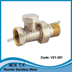Lockshield Straight Radiator Valve (V21-201) pictures & photos