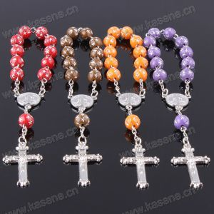 New Design Stars Beads Fashion Rosary Chaplet with Metal Cross