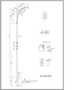 Q345 S355 Galvanized Double Arm Road Light Pole pictures & photos