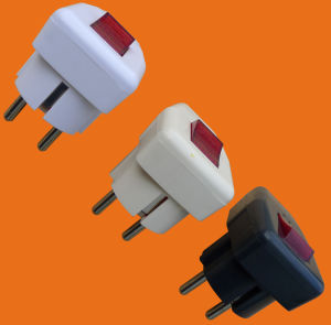 2 Pin Plug with Earth&Switch (P7055) pictures & photos