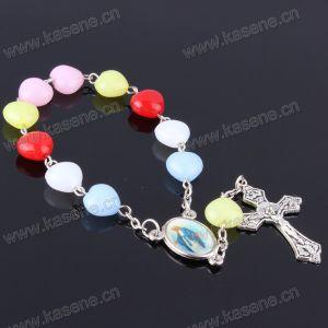 Cheap New Heart-Beads Plastic Handmade Rosary Bracelets