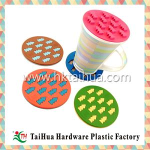 Custom Soft PVC Flower Shape Cup Mat with Thc-001 pictures & photos