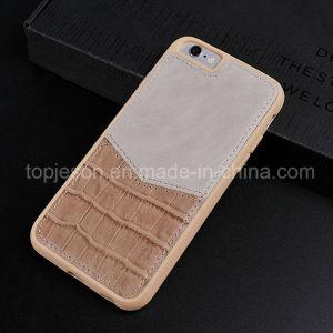 Khaki Color Crocodile Genuine Leather Case for iPhone 6/6s
