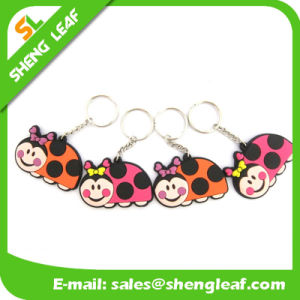 Convenient Rubber Keychain Soft PVC Product (SLF-PF075) pictures & photos