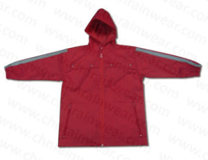 Customize Functional Nylon Children Rain Jacket with Hood pictures & photos