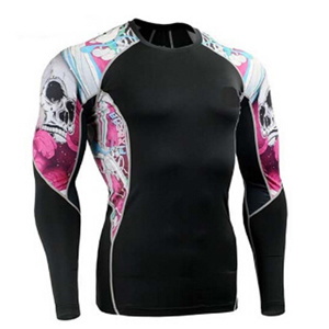 MMA Sublimation Printing Long Sleeves Rash Guards/ Costume MMA Rash Guhighest Quality Stitching pictures & photos