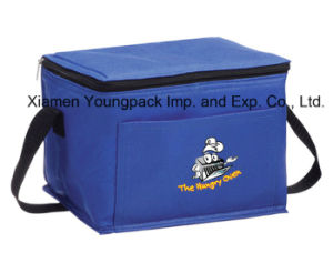 Royal Blue Reusable Non-Woven Cloth Small Insulated Cooling Bag pictures & photos