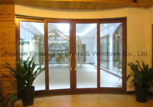 Customized Aluminium Heavy Sliding Door with Soundproof Glass (FT-D190) pictures & photos