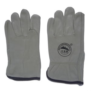 Cowhide Working Safety Construction Gloves for Machanist pictures & photos