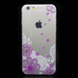 Drop Rubber Flower TPU Phone Case for iPhone 5/6/6plus