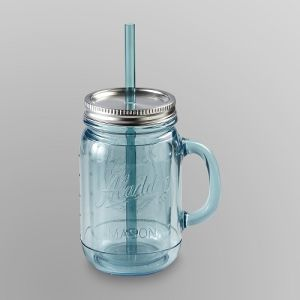 Nice Quality Mason Jar with Lid and Straw