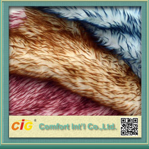 High Quality Colorful Animal Print Faux Fur Fabrics pictures & photos