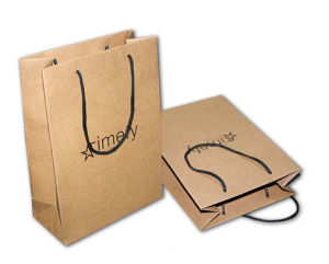 Logo Printing Recycle Kraft Brown Paper Bag (jhy-067) pictures & photos