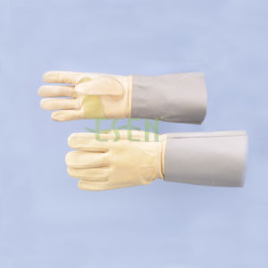 "Garden Leather Gloves 12"" & Cow Split & Rubberized & Labor Safety pictures & photos"