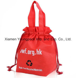 Custom Reusable Non-Woven Drawstring Tote Shopping Bag for Promotion pictures & photos