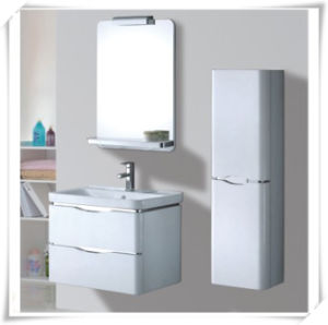 Modern PVC Bathroom Vanity with Wash Basin pictures & photos