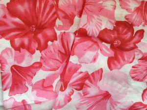 Linen Cotton Printing Flowers for Summer Cool Dress Cloth Garment