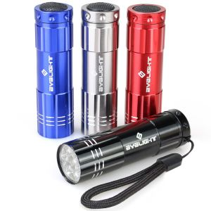 9 LED Mini Aluminum Flashlight Torch with Lanyard pictures & photos