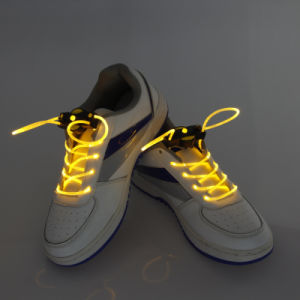 Super Bright LED Glowing Shoelaces Sound Activated Shoe String pictures & photos