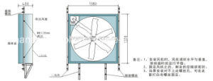 43 Inch Blade Diameter Exhaust Fan Used for Greenhouse pictures & photos