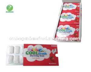 Strawberry Flavor Skin Packing Sport Chewing Gum pictures & photos