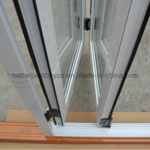 Sound-Proof Heat-Insulated Energy Saving Bi-Folding Aluminum Door pictures & photos