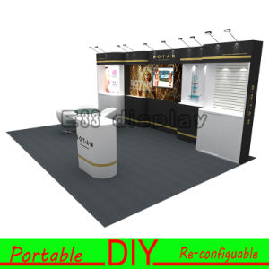 3*6m (10*20FT) Easy-Assembly Portable Recycle Modular Trade Show Exhibition Booth Stands with Slatwall Panels Display pictures & photos